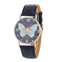 Butterfly Pattern Bicast Leather Watch - JT Home & Away