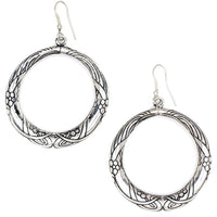 Selene Hoop Earrings – Silver