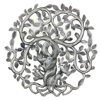 Twisted Tree of Life with Swirling Branches Wall Art - Croix des Bouquets