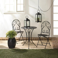 3 Piece Chic Iron Bistro Set