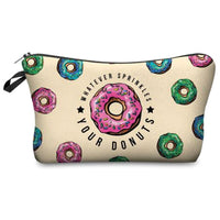 Colorful Donut Sprinkles Makeup Bag in 7 Styles - JT Home & Away