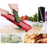 Convertible Mandoline And Grater With Protective Grip