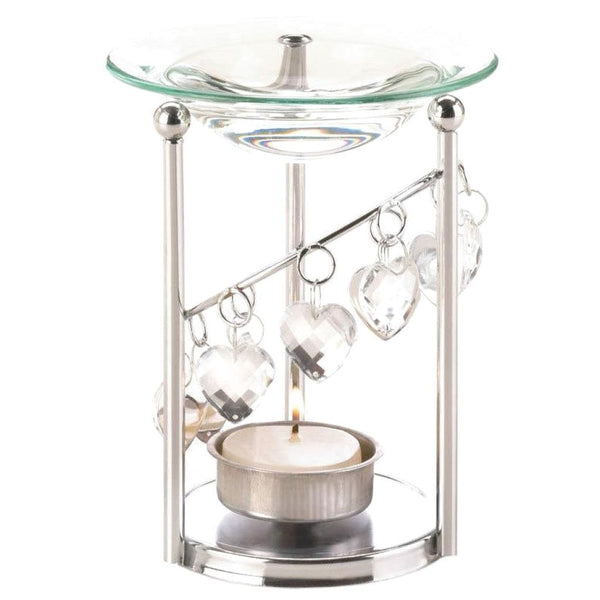 Crystal Hearts Oil Warmer - JT Home & Away