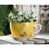 Decorative Teacup Planters In 3 Styles Garden Butterfly / Large