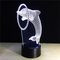 Dolphin 3D Illusion Light, Remote Control Optional - JT Home & Away