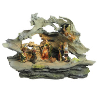 "16"" LED Lighted Faux Driftwood Nativity Scene"