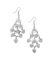 Falling Leaves Earrings – Silvertone