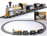 12-Piece Battery Operated Lighted and Animated Classic Train Set with Sound