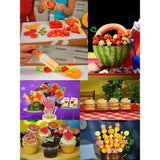 Edible Fruit Arrangement Maker Kit With 6 Shapes And Skewers