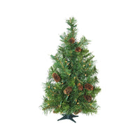 "3' x 22"" Pre-Lit Dakota Red Pine Full Artificial Christmas Tree - Clear Lights"
