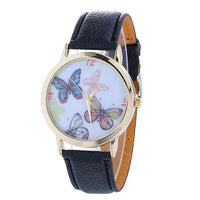 Fashionable Butterfly Pattern Watch, 7 Strap Colors - JT Home & Away