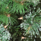 "7.5' x 55"" Pre-Lit Cashmere Mixed Pine Full Artificial Christmas Tree - Clear Lights"