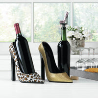 Glittering Gold Heel Wine Holder