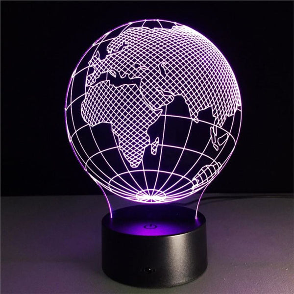 Globe 3D Illusion Light, Remote Control Optional - JT Home & Away