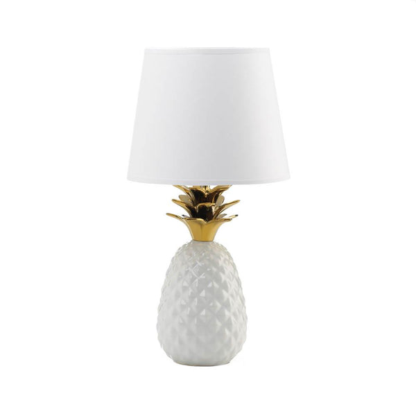 Gold or Silver Topped Pineapple Lamp