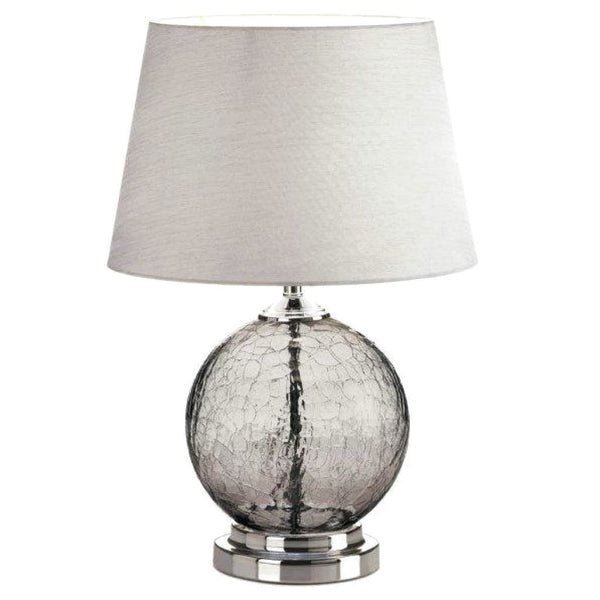 Gray Cracked-Glass Sphere Table Lamp - JT Home & Away