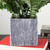 "13"" Artificial Boston Fern in Decorative Stone Look Paper Mache Pot"