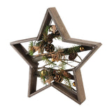 "15.25"" Mixed Branches in Star Wood Frame Table or Wall Decoration"