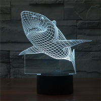 Jumping Shark 3D Illusion Light, Remote Control Optional - JT Home & Away