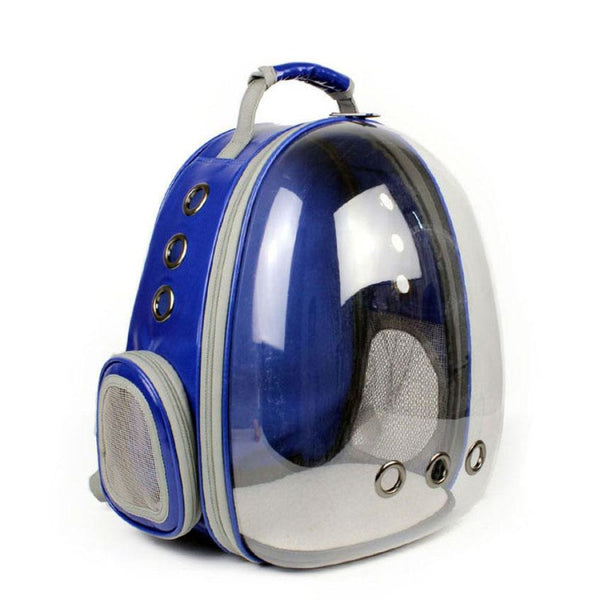 Large Window Pet Carrier Backpack In 4 Colors Blue / 42X29X27Cm