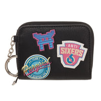 Ready Player One Faux Leather Mini Zip Around Wallet with Patches