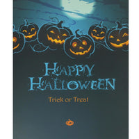 Led Lighted Jack-O-Lanterns Happy Halloween And Trick Or Treat Canvas Wall Art 19.75 X 23.5