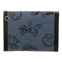 Mario Fabric Tri-Fold Wallet With Snaps - JT Home & Away