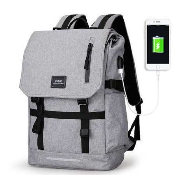 Mark Ryden Usb Charging Backpack 15.6 Inch Gray
