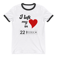 """I Left My Heart in Row 22"" Ringer T-Shirt"