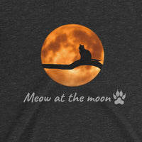 """Meow at the Moon"" Ladies' Countour T-Shirt"