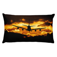 Sunset Approach Double Sided Rectangular Throw Pillow