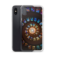 Stained Glass Spiral iPhone Case