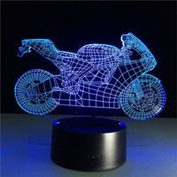 Motorcycle 3D Illusion Light, Remote Control Optional - JT Home & Away