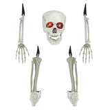 5-Piece Cream White Ground Breaking Skeleton Indoor/Outdoor Halloween Decoration