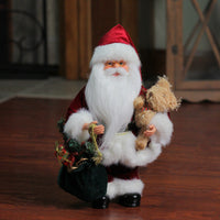 "12"" Santa Claus in Traditional Red Suit Christmas Figure"