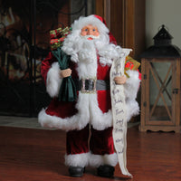 3' Large Standing Santa Claus Christmas Figure