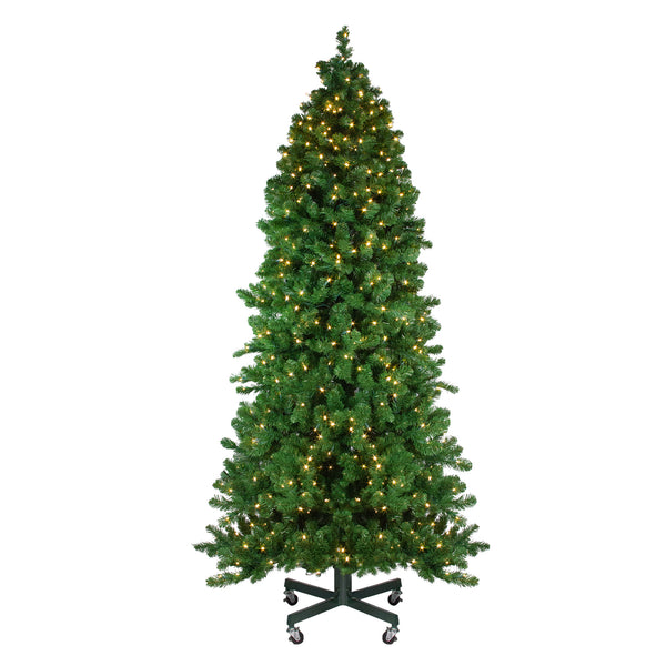 75 pre lit slim olympia pine artificial christmas tree warm white led lights - Slim Christmas Tree With Led Lights
