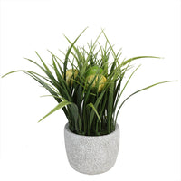 "10"" Artificial Spring Time Easter Grass and Egg Floral Arrangement"