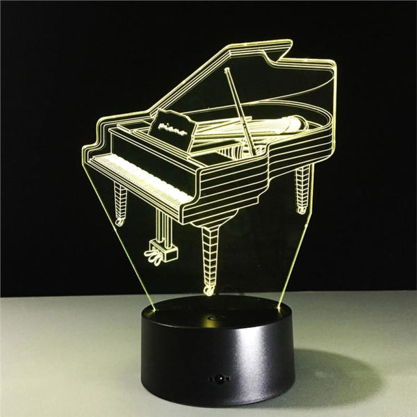Piano 3D Illusion Light, Remote Control Optional - JT Home & Away