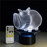 Piggy 3D Illusion Light, Remote Control Optional - JT Home & Away