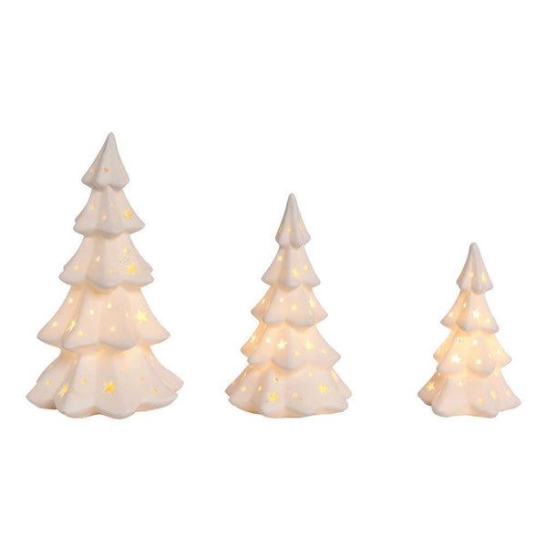 Porcelain Light Up Trees Decor Set Jt Home Away