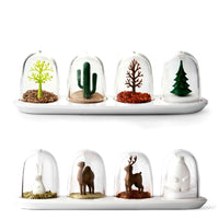 "The ""Four Seasons"" Spice Shakers in Tree or Animal Themes"