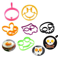 Non-stick Silicone Fried Egg Mold, 6 Different Shapes