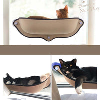 Cat Window Hammock in Green or Tan