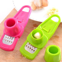 Handheld Garlic Grater with Sliding Guide