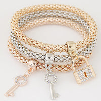 Triple Charm Bracelets for Her, 18 Unique Charm Varieties