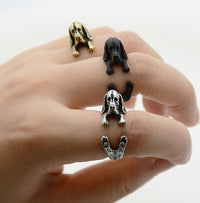 Basset Hound Resizable Ring in 3 Styles