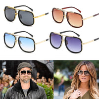Square Metal Frame Sunglasses in Vintage Style