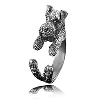Miniature Schnauzer Resizable Ring in 3 Styles