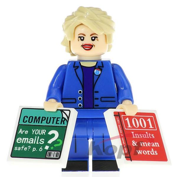 Souvenir Hillary Clinton Minifigure with Informative Books
